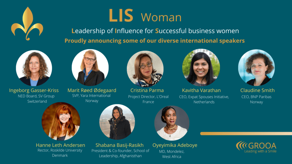 Internationals speakers of LIS Woman - Grooa